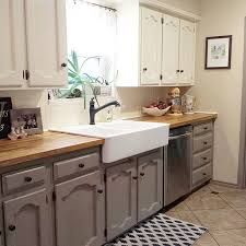 two farmhouse two tone kitchen cabinets decor d two toned kitchen