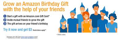 amazon u0027s new social gifting service u201camazon birthday gift