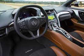 Saddle Interior Acura Showcases Features And Options Available On New Nsx Photo