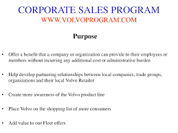 volvo corporate ppt volvo corporate sales program powerpoint presentation id