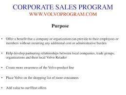volvo corporate ppt volvo corporate sales program powerpoint presentation id