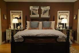 bedroom bedroom interior decoration with dark brown bed frame