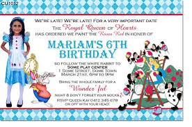 alice in wonderland birthday invitations ideas u2013 bagvania free