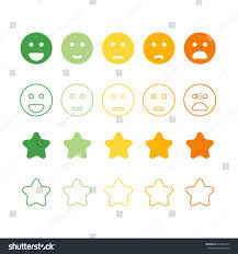 smiley faces rating icons happy unhappy stock vector 418201243