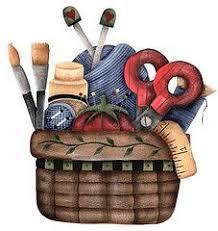 sewing basket clip art 16