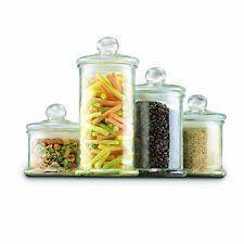 clear glass kitchen canister sets anchor hocking glass kitchen canister sets ebay