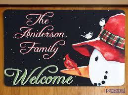 Holiday Doormat Personalized Holiday Doormat 17