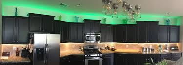 kitchen cabinet led lighting rgb warm white lights are used to light up and