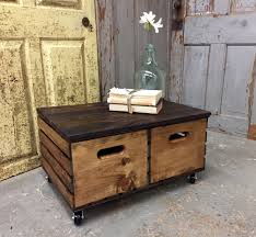 Side Table With Storage by Crate Coffee Table Side Table With Storage Rustic Wood Furniture