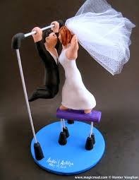 gymnastics cake toppers wedding cake topper
