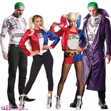 Rogue Halloween Costume Squad Mens Joker Ladies Harley Quinn Dc Fancy