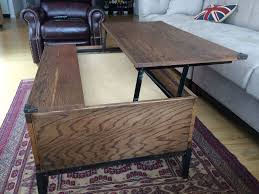 Lift Top Coffee Table Plans Coffee Table Hand Crafted Lift Top Coffee Table By M Karl Llc