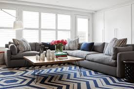 gray sectional contemporary living room jennifer worts design