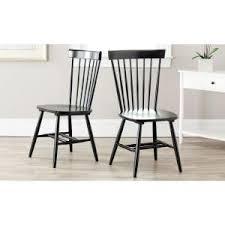 Black Windsor Chairs Safavieh Riley Black Wood Dining Chair Set Of 2 Amh8500b Set2