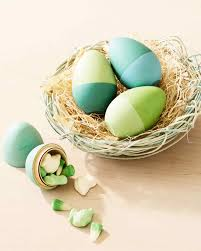 wooden easter eggs color block painted wooden easter eggs martha stewart