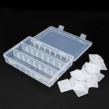 Plastic Storage Containers Dividers - amazon com dcdeal large size 24 compartments adjustable plastic