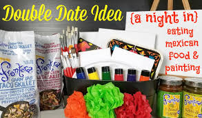 date gift basket date idea and a paint gift basket