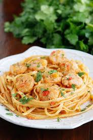 Dinner Ideas With Shrimp And Pasta Caribbean Shrimp Pasta Recipe Mango Peach Salsa Peach Salsa