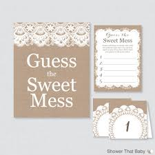 burlap baby shower diaper candy bar game printable guess the