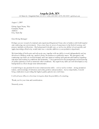 cover letter for nursing job awesome sample cover letters for