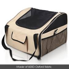 pet carrier dog cat car booster seat portable soft cage travel bag