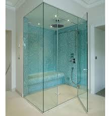 Hinged Glass Shower Door Luxury Bathroom With Frameless Hinged Glass Shower Doors And