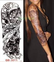 full arm tattoo robot sleeve free shipping worldwide