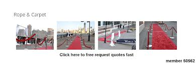 stanchion rental carpet rental for events