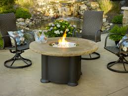 Round Stone Patio Table by Exterior Inspiring Patio Decor Ideas With Costco Fire Pit