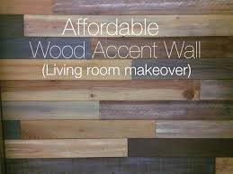 What Is An Accent Wall Living Room Makeover With Wood Accent Wall Youtube