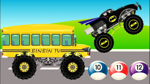 monster truck for children cartoon bus monster trucks vs batman trucks monster trucks for