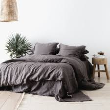 charcoal bedding linen duvet set charcoal the beach people the beach people us