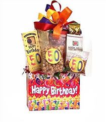 birthday gift basket 50th birthday gift basket gourmet snacks
