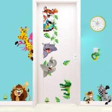 stickers savane chambre bébé stickers animaux afrique stickers muraux girafe ambiance