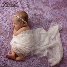 Baby Photoshoot 50 150cm Newborn Photography Wrap Stretch Floral Lace Baby Photo