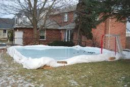 Backyard Rink Liner by Our Backyard Rink Shooting Pad