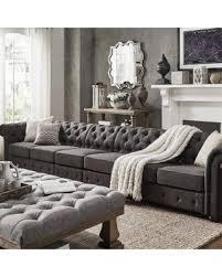 Gray Linen Sofa by Summer Sale Knightsbridge Dark Grey Linen Sectional Sofa