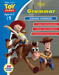 store disney toy story grammar learning workbook level 1 book
