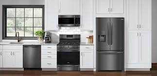 kitchen collections appliances small introducing the frigidaire gallery black stainless steel collection