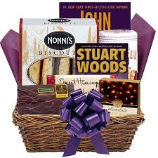 book gift baskets up all deluxe reader s gift set