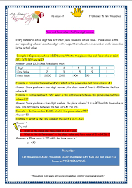 grade 3 maths worksheets 5 digit numbers 2 4 place value and