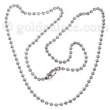 white gold bead necklace images 22k gold bead necklace 16 0 inches white finish gold palace jpg