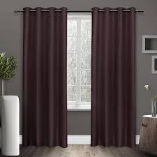 Plum Faux Silk Curtains Shantung Plum Faux Silk Thermal Grommet Top Window Curtain Eh7900