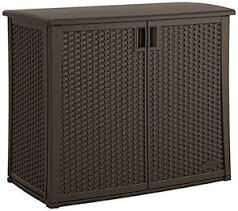 outdoor wicker storage cabinet suncast outdoor storage cabinet 97 gal resin wicker 40 in deck pool
