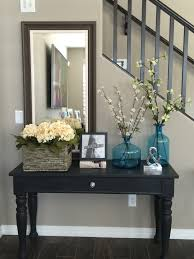 Entrance Decor Ideas For Home by Entry Way Sofa Table Broyhill Table Repurposed With Annie Sloan