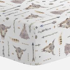 Sheets For Mini Crib Blue Boho Mini Crib Sheet Carousel Designs