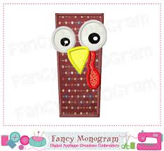 turkey monogram i applique thanksgiving letter i