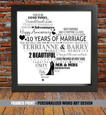 10th wedding anniversary gift best 25 10th anniversary gifts ideas on 10 year