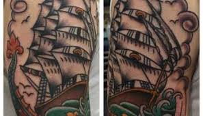 ship in a bottle tattoo traditional tattoos