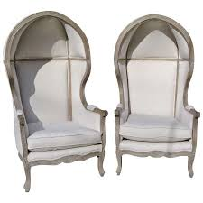 french canopy chair canopy chair pair of french white linen canopy hood bishops chairs